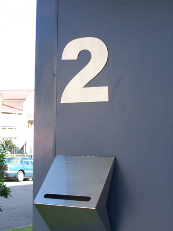 Stainless steel house numbers 300mm high