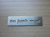 no junk mail sign