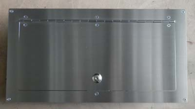Letterbox lockable door stainless steel