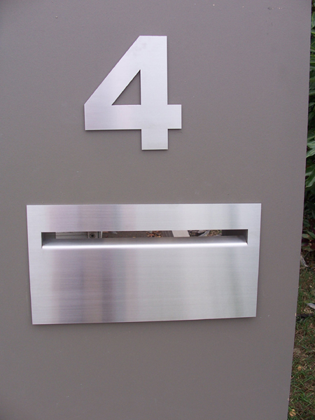 House numbers 200 mm high marine grade stainless steel - Click Image to Close