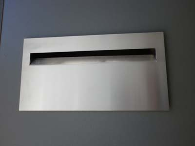 Aussie deluxe letterbox Faceplate and lockable door combo