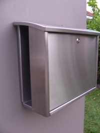 Wall-mounted letterbox stainless steel