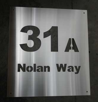 marine grade stainless steel sign