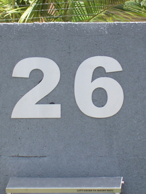 Stainless steel house numbers 200 mm high