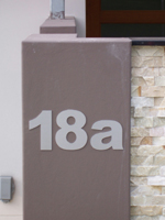 House numbers & letters stainless steel 150mm high