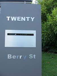 House numbers & letters stainless steel 60mm high