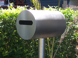 Stainless steel letterbox free-standing
