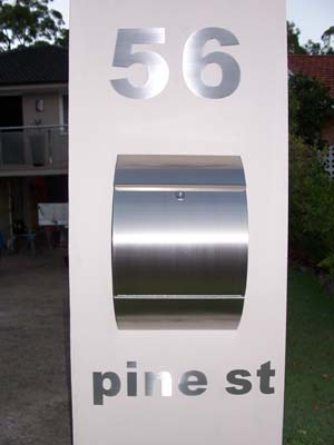 Stylish stainless steel letterbox