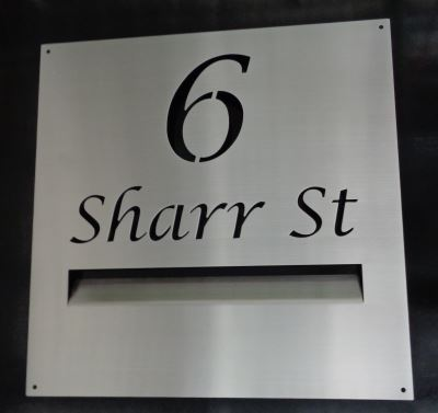 Letterbox Fascia Plate with Street name & number