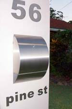 Stainless steel letter boxes