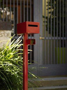 Powder coated letter boxes